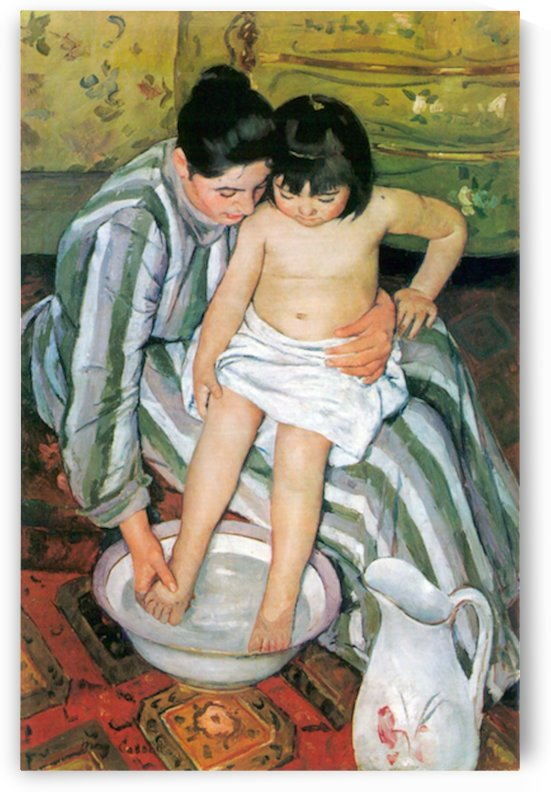 The bath by Cassatt by Cassatt