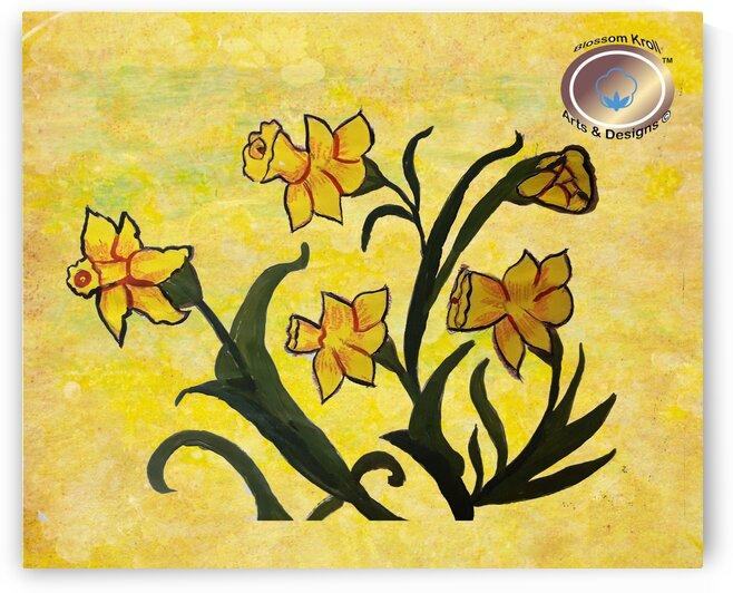 Daffodils painting by Yasmin MUhammad Elias