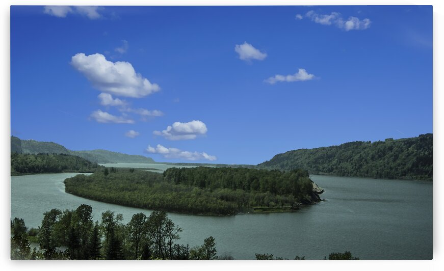 Columbia River The Gorge Oregon Panorama by 1North