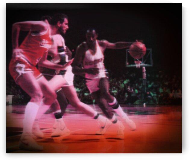 1985 Milwaukee Bucks Sidney Moncrief Art by Row One Brand