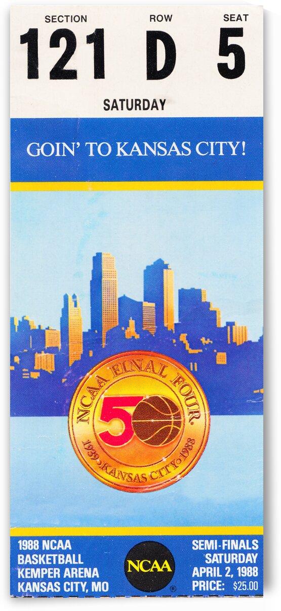 1988 NCAA Basketball Semi-Finals Ticket Art by Row One Brand