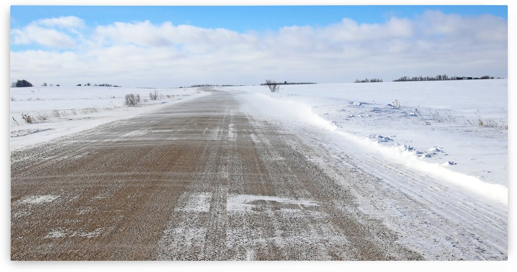 Winter Country Road by Deb Oppermann