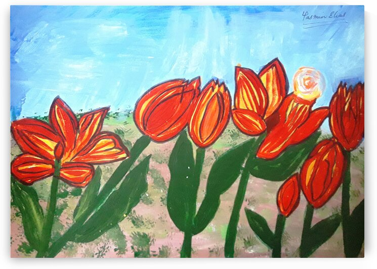 RedYellowTulips Paint by Yasmin MUhammad Elias