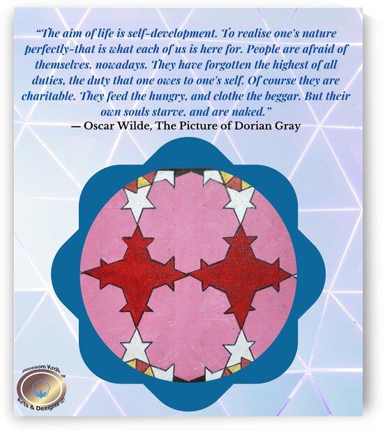 Floral IslamicGeoArt   Oscar wilde quote by Yasmin MUhammad Elias