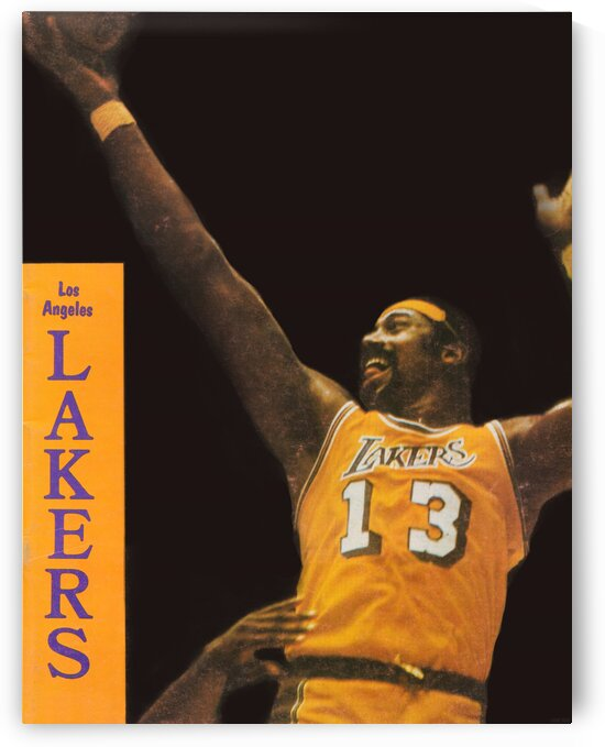 1972 Wilt Chamberlain LA Lakers Poster by Row One Brand