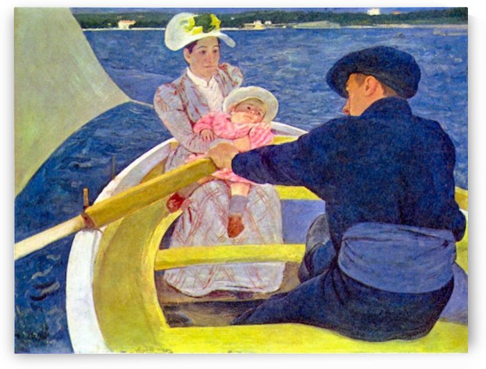 The boat travel by Cassatt by Cassatt