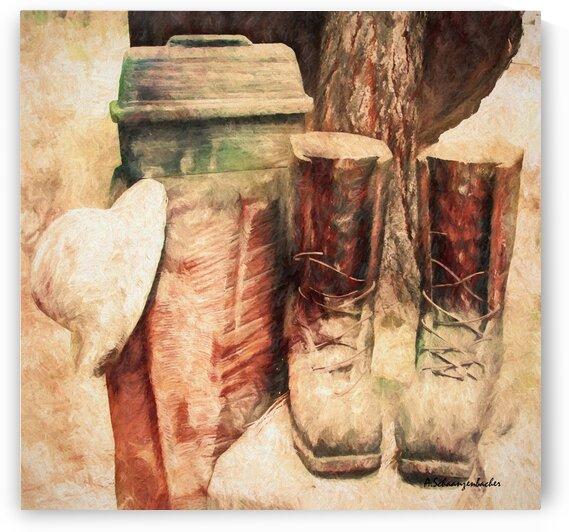 In Memory of  a Lumberjack by Aurelia Schanzenbacher Sisters Fine Arts
