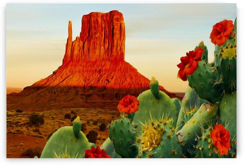 Blooming cactus in Texas.  by Ievgeniia Bidiuk