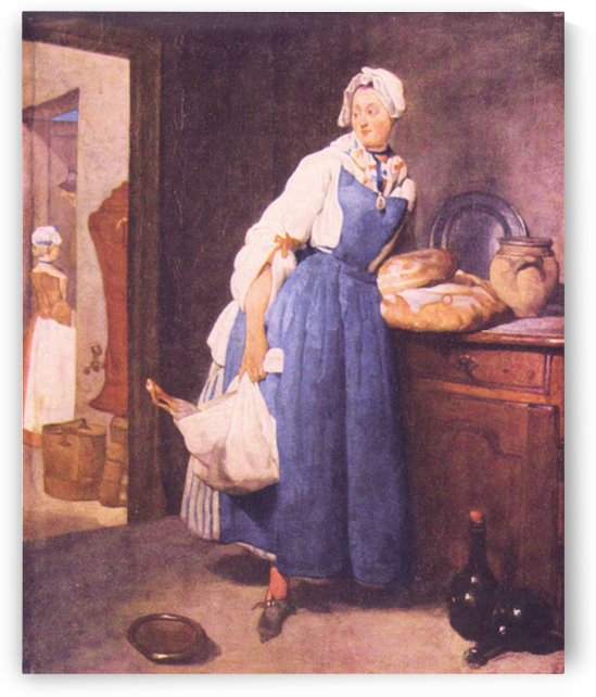 The bread by Jean Chardin by Jean Chardin