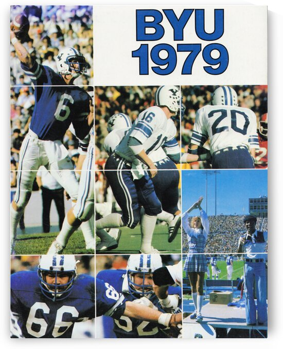 1979 BYU Football Poster by Row One Brand