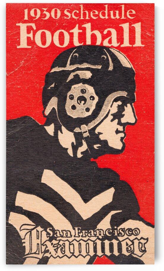 1930 san francisco examiner football art by Row One Brand