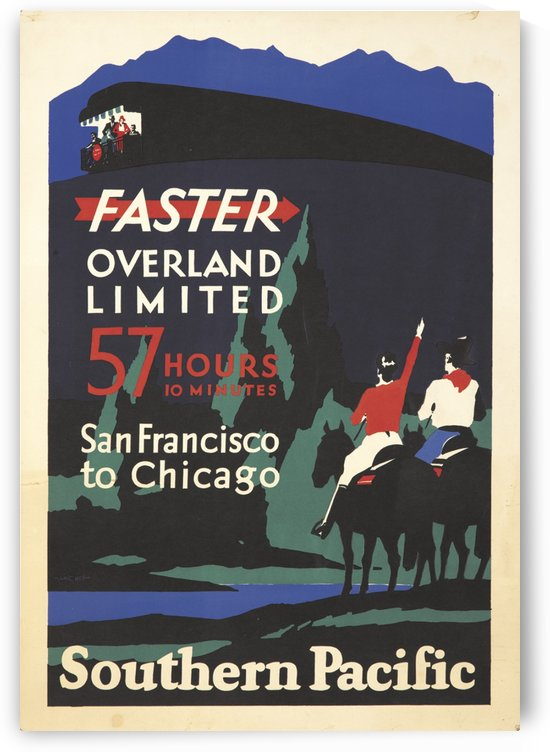 Faster Overland by VINTAGE POSTER