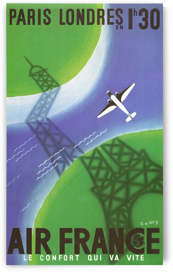 Paris Londer by VINTAGE POSTER