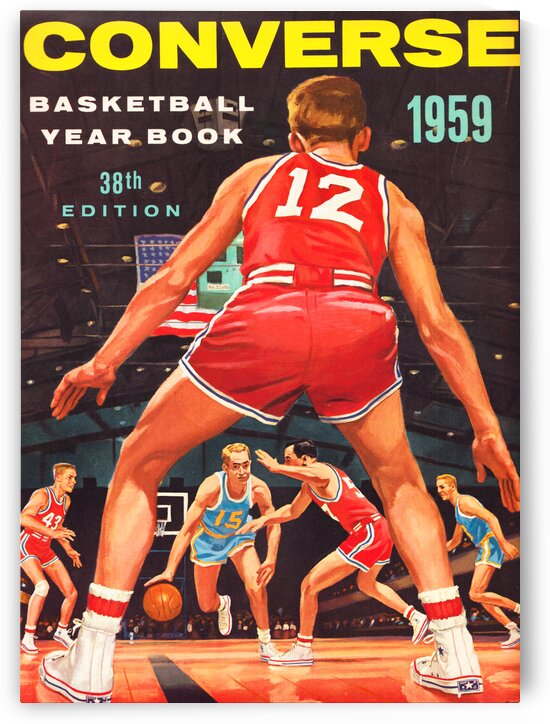1959 Converse Basketball Yearbook Wall Art by Row One Brand