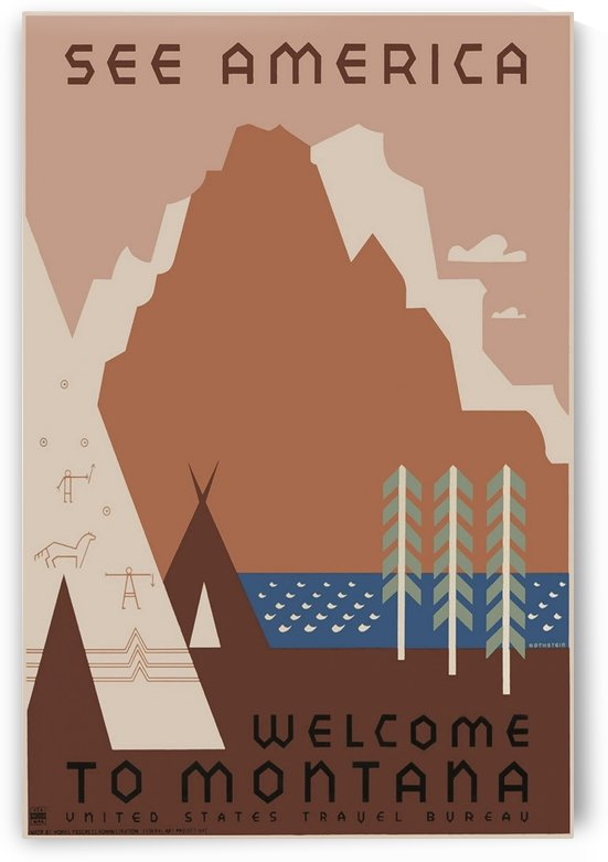 Welcome to Montana by VINTAGE POSTER