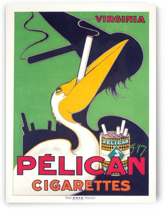 Pelican Cigarettes by VINTAGE POSTER