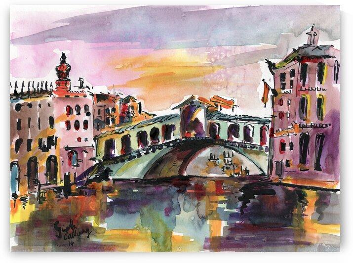 Italy Venice Rialto Bridge by Ginette Fine Art