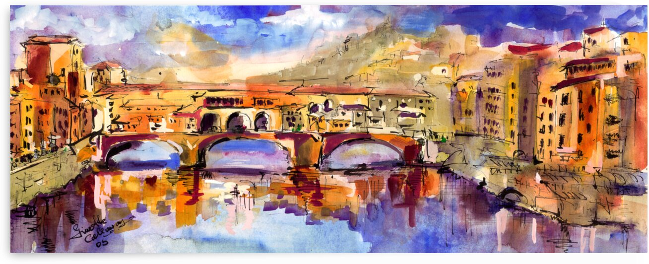 Florence Italy Ponte Vecchio  by Ginette Fine Art
