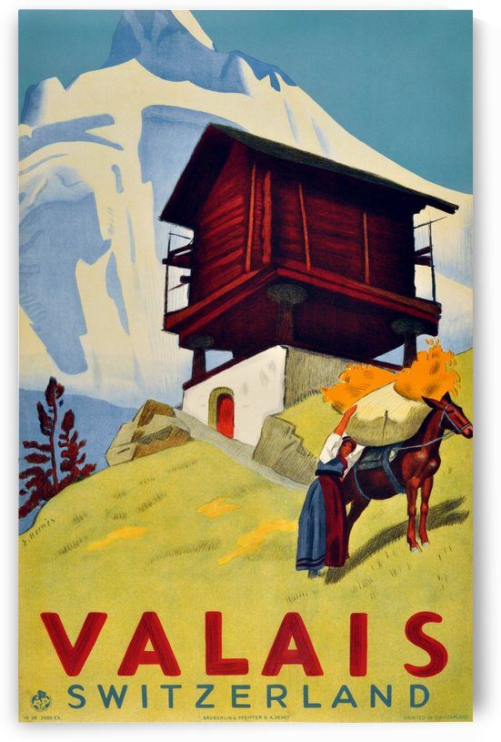 Valais Switzerland by VINTAGE POSTER