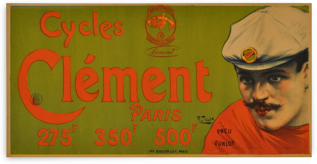 Clement Paris Cycles by VINTAGE POSTER