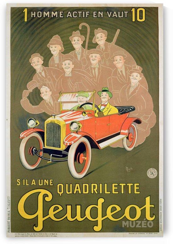 Quadrilette Peugeot by VINTAGE POSTER