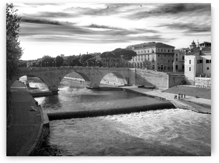 Rome - Tiber River and Tiber Island by Stefano Senise Photography