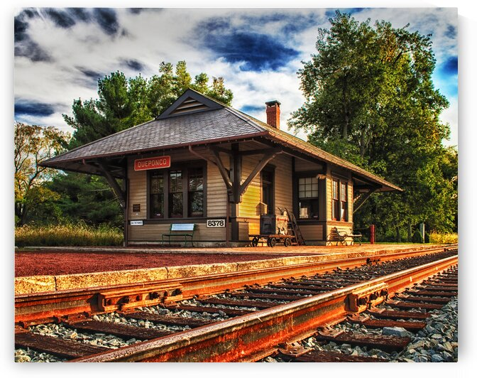 Queponco Railway Station by Ocean City Art Gallery