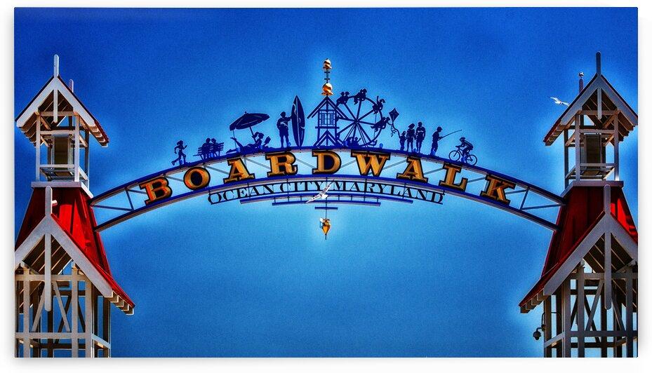 Boardwalk Arch in Ocean City MD by Ocean City Art Gallery