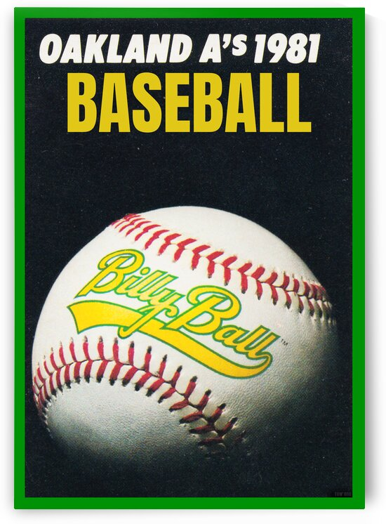 1981 Oakland Athletics Billy Ball Poster by Row One Brand