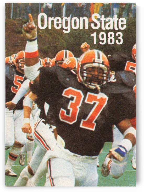 1983 Oregon State Beavers Football Poster by Row One Brand