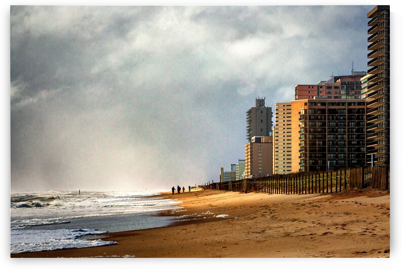 Condo Row After the Storm by Ocean City Art Gallery
