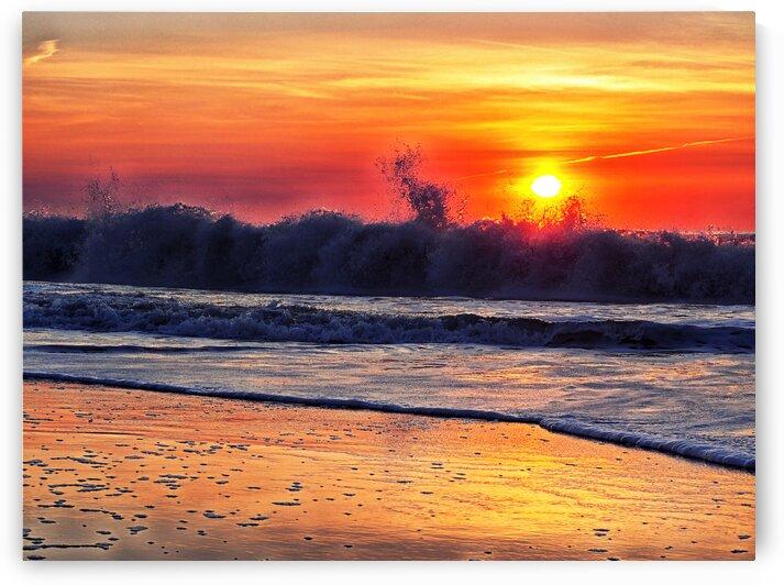 Sunrise at 142nd Street Beach Ocean City by Ocean City Art Gallery