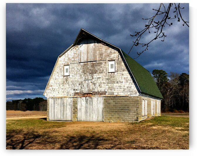 Old Barn in Sussex County near Bethany Beach by Ocean City Art Gallery