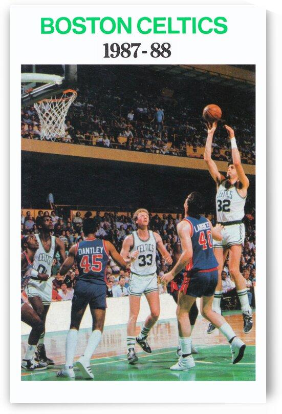 1987 Boston Celtics Larry Bird Poster by Row One Brand