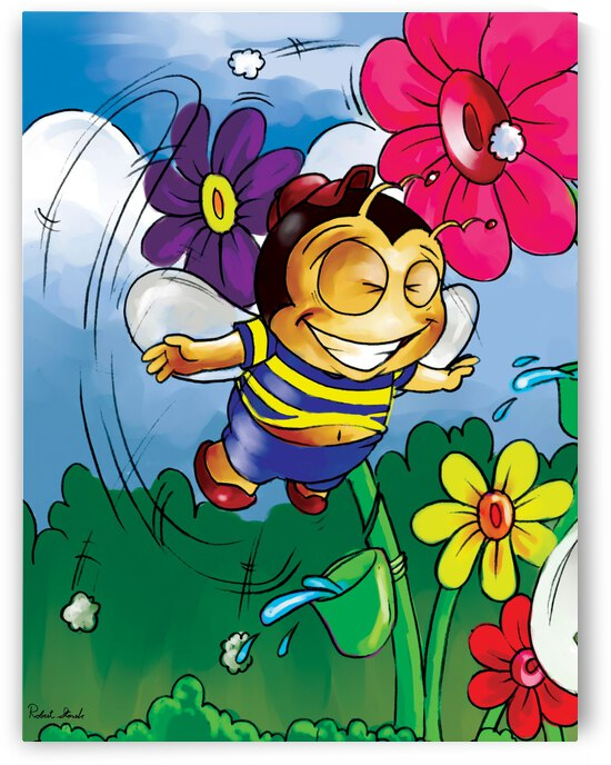 Happiness - Flower Power Buster Bee by Robert Stanek