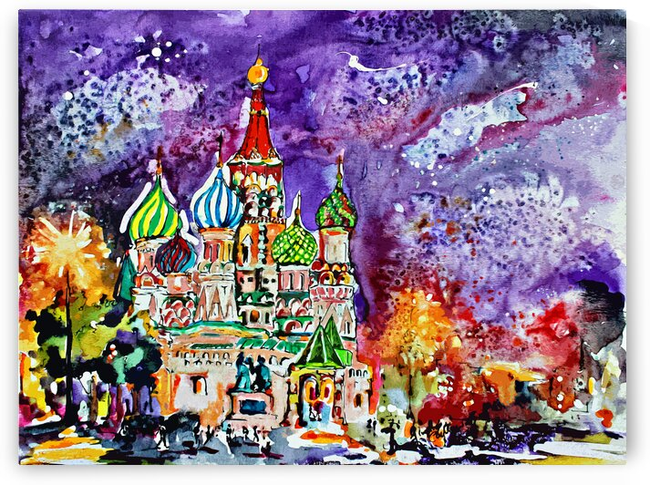 Saint Basil Cathedral Russia  by Ginette Fine Art