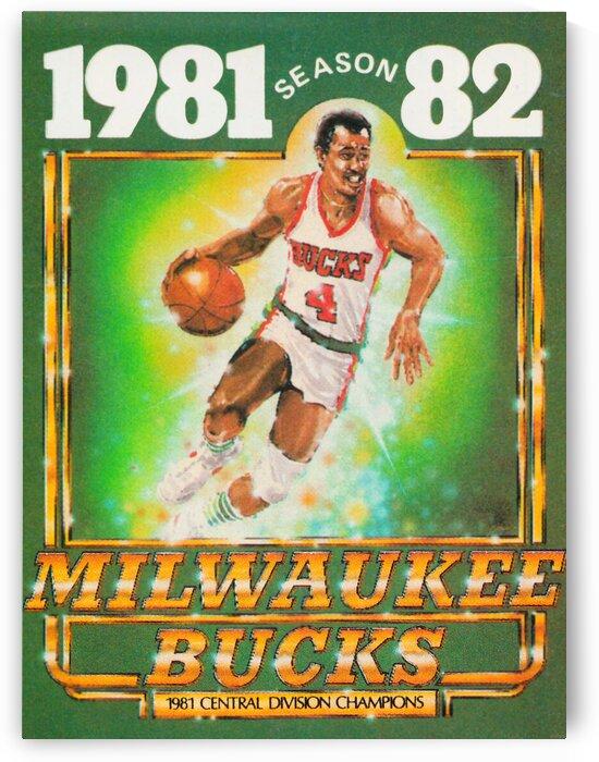 1981 Retro Milwaukee Bucks Basketball Poster by Row One Brand