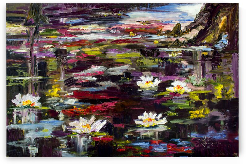 Black Water Lily Pond  by Ginette Fine Art