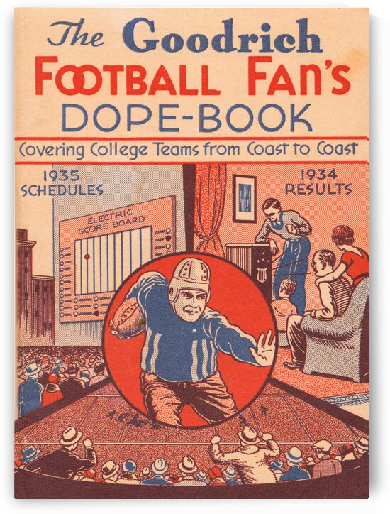 1935 College Football Facts Dope Book by Row One Brand