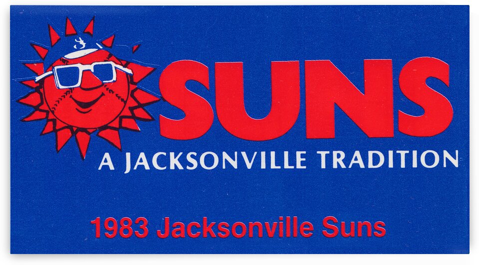 1983 Jacksonville Suns Baseball Art by Row One Brand