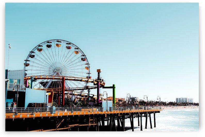 Ferris wheel at Santa Monica pier California USA  by TimmyLA