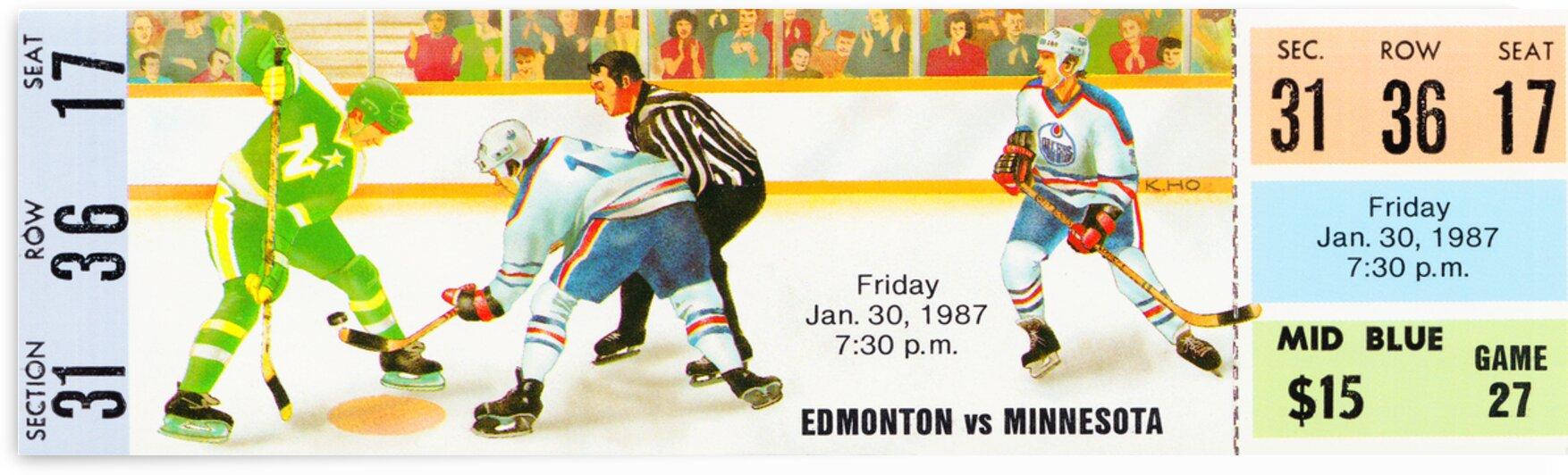 1987 Edmonton vs. Minnesota by Row One Brand