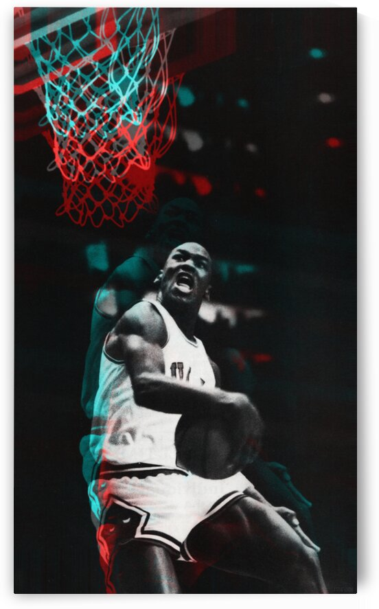 1985 Michael Jordan Art Poster by Row One Brand