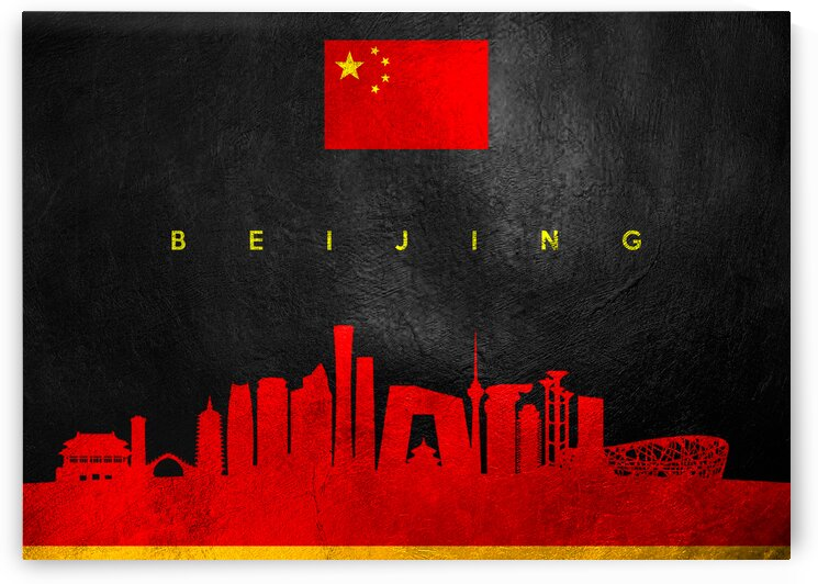 Beijing China Skyline Wall Art by ABConcepts