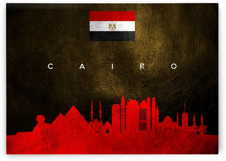 Cairo Egypt Skyline Wall Art by ABConcepts