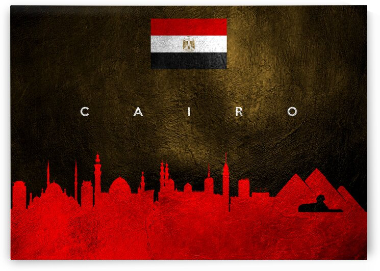 Cairo Egypt Skyline 2 Wall Art by ABConcepts