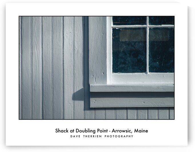 Shack at Doubling Point - Arrowsic Maine by Dave Therrien