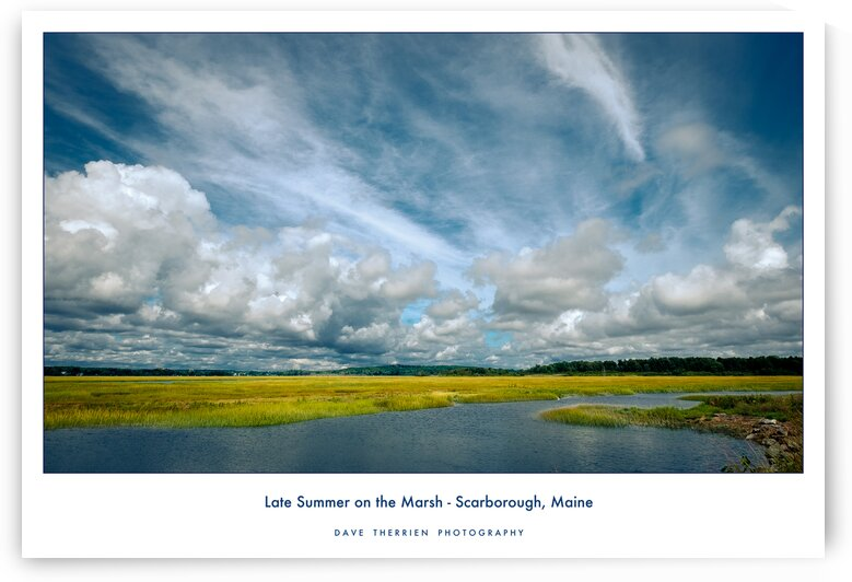Late Summer on the Marsh - Scarborough Maine by Dave Therrien