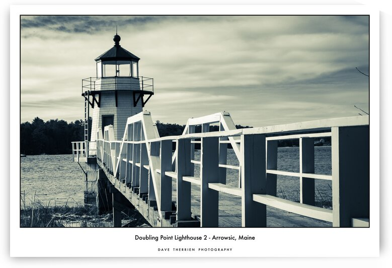 Doubling Point Lighthouse 2 - Arrowsic Maine by Dave Therrien