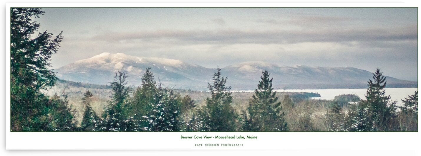 Beaver Cove View - Moosehead Lake by Dave Therrien